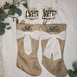 Mr & Mrs Stockings and Mantel Holders